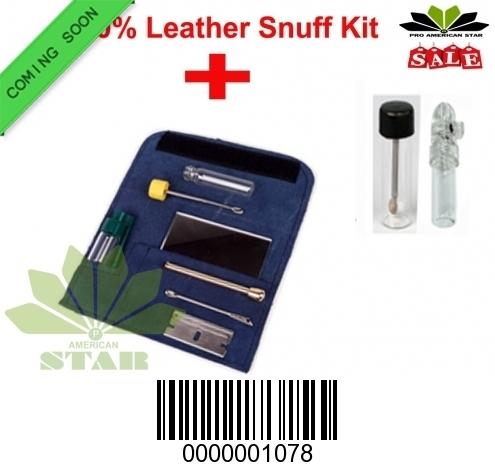 Blue  Leather Snuff kit AK-1078