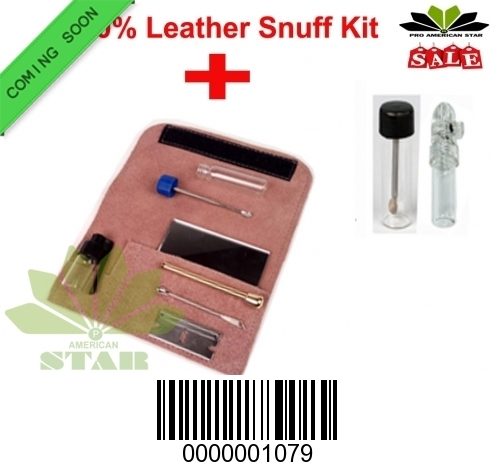Pink Leather Snuff kit AK-1079