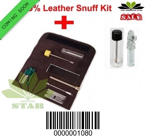 Brown Leather Snuff kit AK-1080