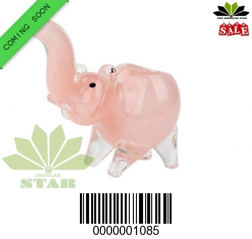 Black Red  Zebra Strip mini Elephant handblown hand pipe VJ-1085