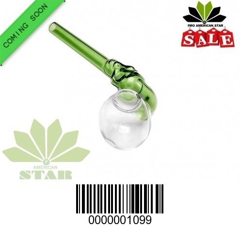 skull face Green Color  Tube  Sweet puff Oil burner-JK-1099