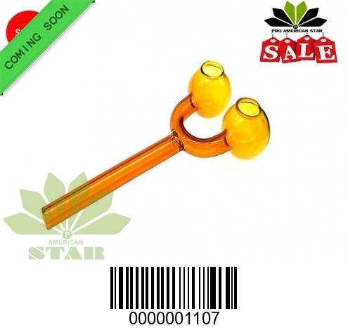Amber Color Slingshot Double bowl Oil Burner-JK-1107