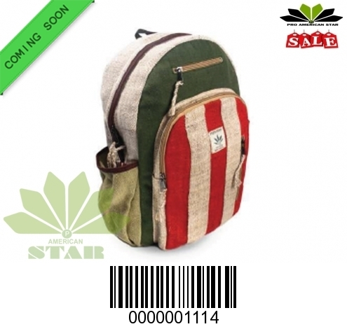 Striped lines Pure Hemp BackPack-NK-1114