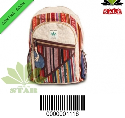 Multi Color Pure Hemp BackPack-NK-1116