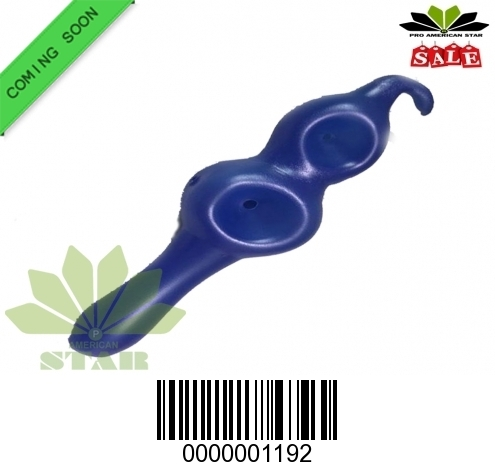 Blue  Double Bowl Glass hand pipe for Oil, Tobacco-JK-1192
