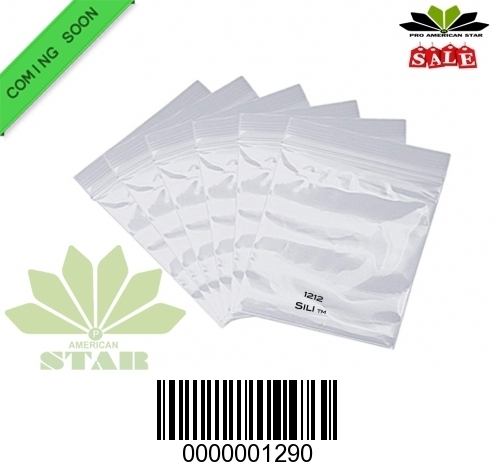 1000 CT-1212 Mini Original Sili Ziplock Plastic Baggies- CT-1290