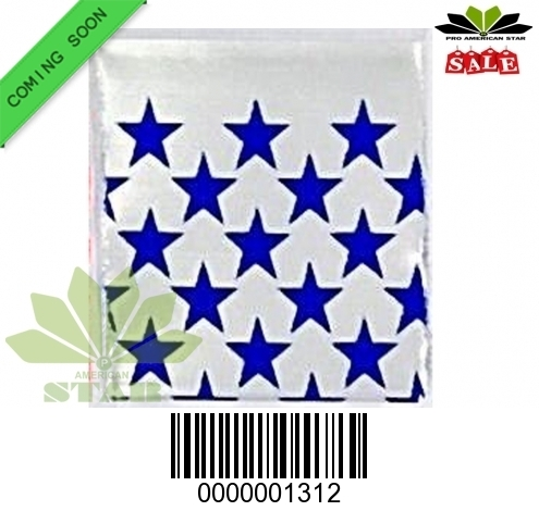1000 CT-Blue Star  printed  Mini reused Ziplock baggy-CT-1312