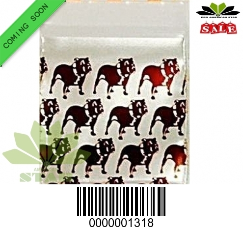 1000 CT-Top Dog printed  Mini reused Ziplock baggy-CT-1318