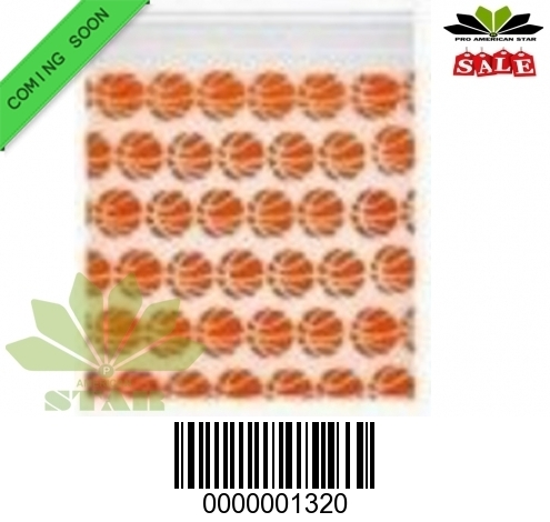 1000 CT-Basket Ball Printed Sili Apple reused ZiplockBaggy-CT-1320