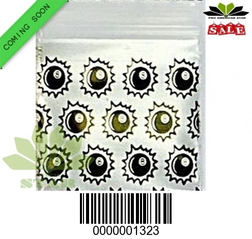 1000 CT-8 Ball Sign printed Mini reused Ziplock baggy-CT-1323