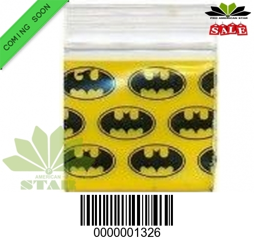 1000 CT-Batman  printed Mini reused Ziplock Baggy-CT-1326
