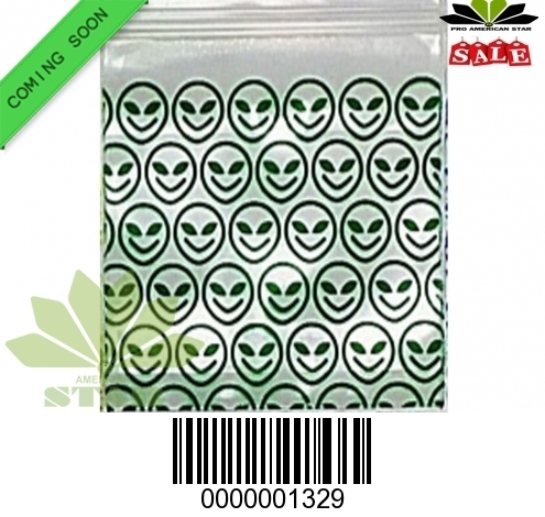 1000 CT-Happy Face printed Face Mini reused Ziplock Baggy-CT-1329