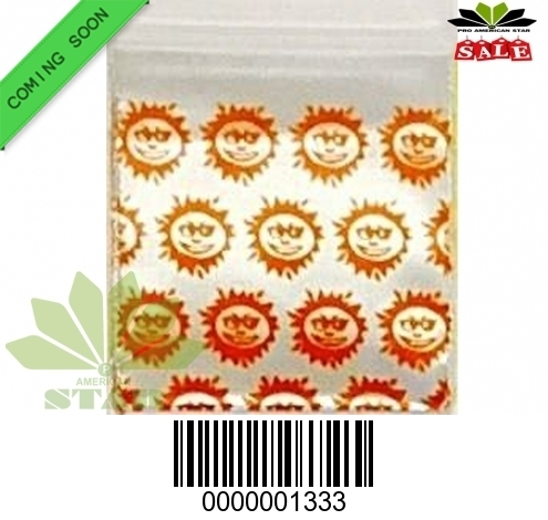 1000 CT-Orange Sun printed Mini reused Ziplock Baggy-CT-1333