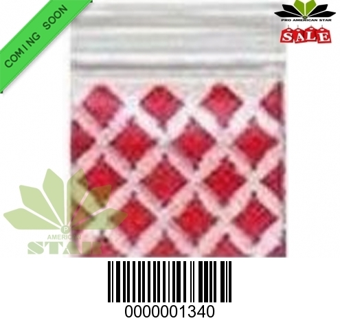 1000 CT-Red Diamond Mini reused Ziplock baggy-CT-1340