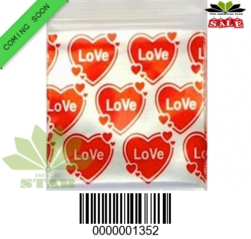 1000 CT-Love Baggy  Sign printed Mini reused Ziplock baggy-CT-1352