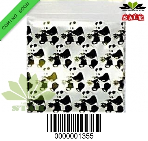 1000 CT-Panda  printed Mini reused Ziplock baggy-CT-1355