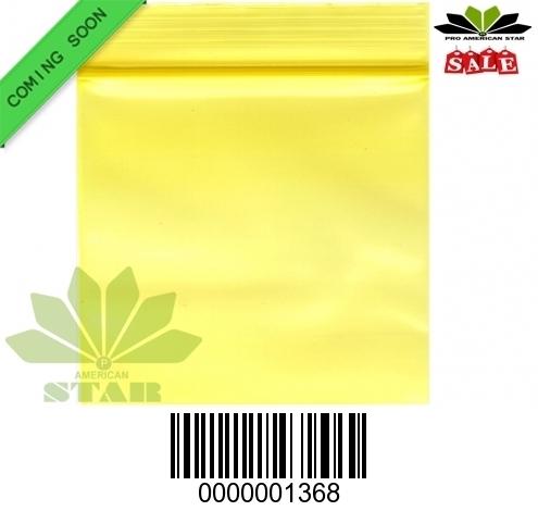 1000 CT-Mini Yellow apple  reused Ziplock baggy-CT-1368