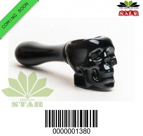 Skull hand pipe-  Smoking glass pipe-JK-1380
