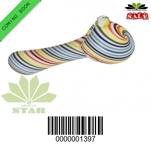 4 inches Candy Colors  Swirl  hand pipe-VJ-1397