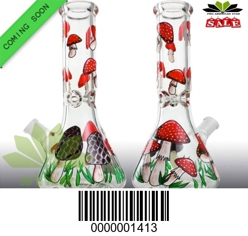 Colorful water pipe-colorful  strawberry Mushroom imprint-BL-1413