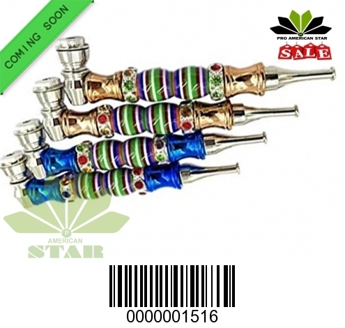 African  Spiral Color detached Style Metal hand pipe-CM-1516