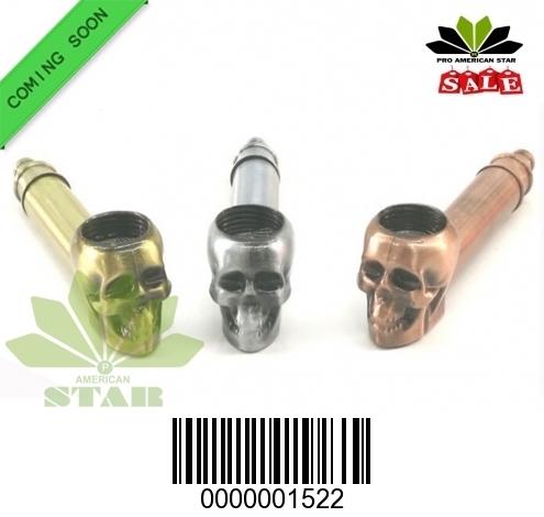 Skull face Molding metal Smoking pipe-CM-1522