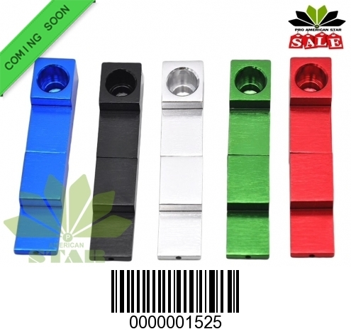 Square Aluminum folding smoking pipe-CM-1525