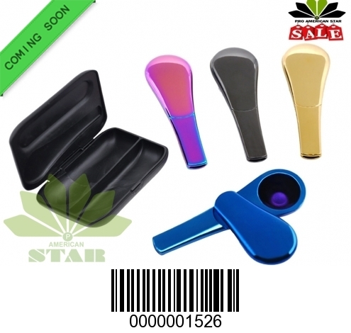 Zinc Metal Spoon pipe with Magnetic lid-CM-1526
