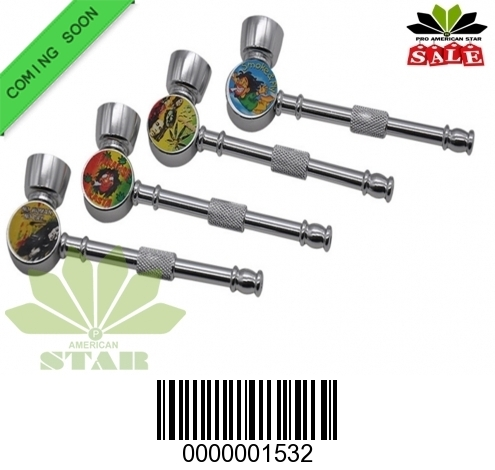 Zinc Alloy metal round base hand pipe -CM-1532