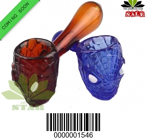 Spider man pattern handblown Handpipe-JK-1546