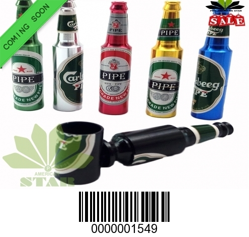 Real bottle metal hand pipe-CM-1549