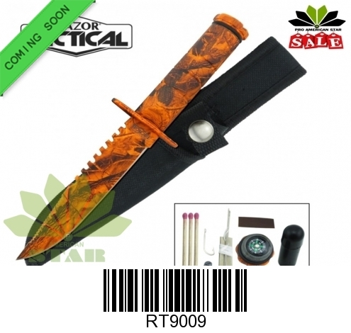 Survival, military , Hunting knife with Nylon Sheath-J-RT9009