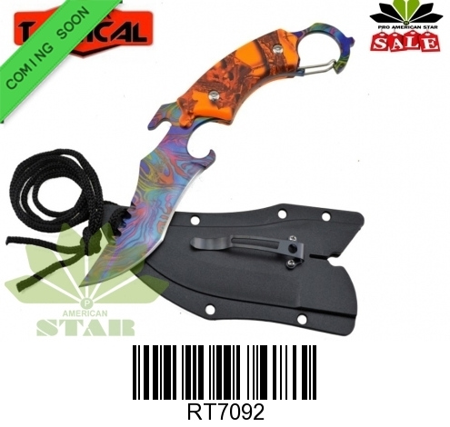 Fixed blade karambit neck knife-J-RT70992