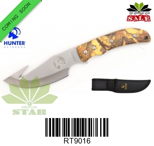 Outdoor Gut Hook blade hunting knife with Nylon Sheath-J-9016
