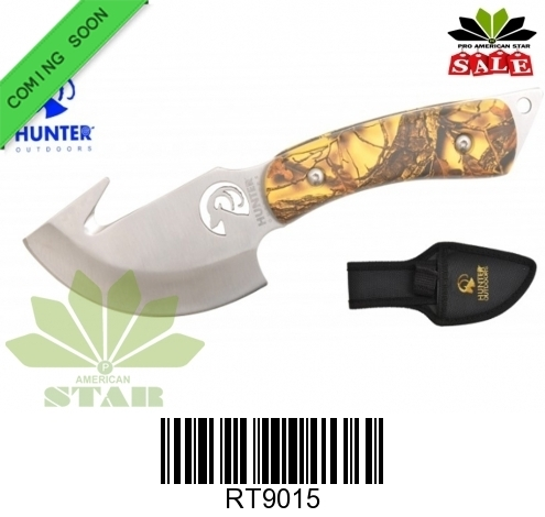 Outdoor Gut hook hunting knife with black Nylon Sheath-J-RT9015