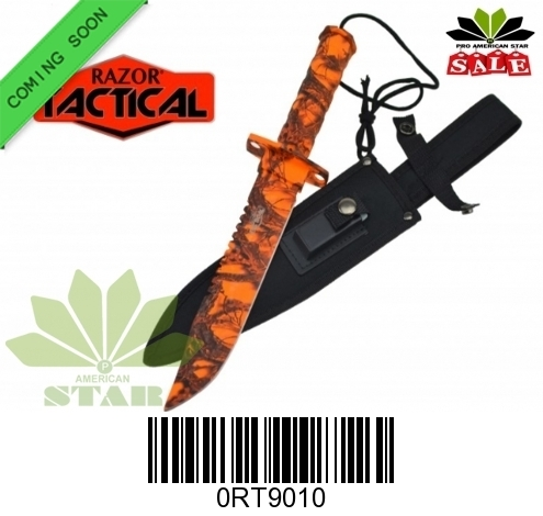 Camouflage blade and handle survival , hunting camping with sheath kit-J-RT9010