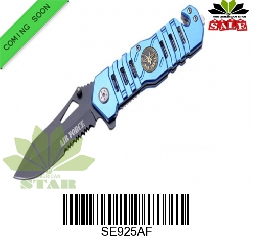 Air Force Tactical Spring Assist Knife with Clip-J-925AF