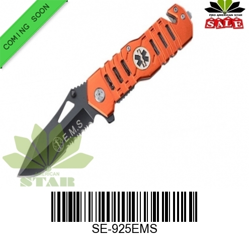 EMS Tactical Spring Assist Knife-J-925EMS