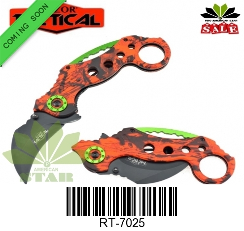 Camouflage Karambit  Tactical Spring Assist Knife-J-RT7025