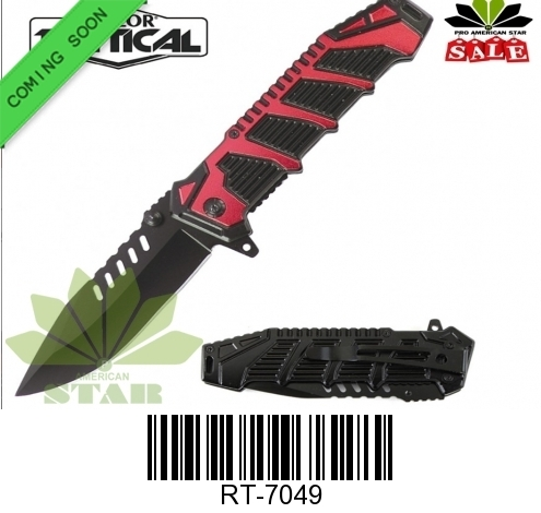 Metal handle Assisted tactical pocket knife-J-7-49