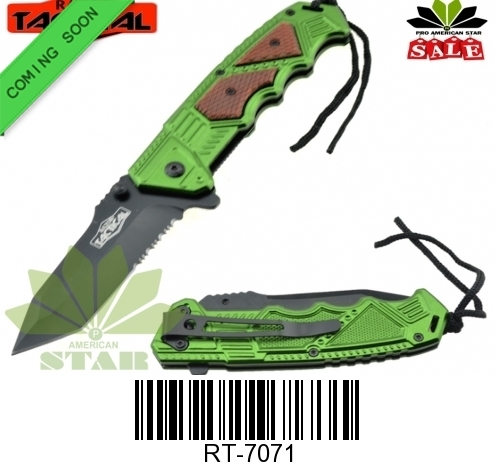 Tactical Spring assist Knife with Lanyard-J-7071