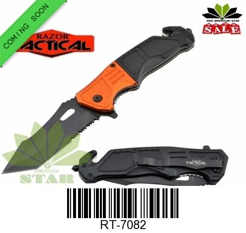 Tactical Surviving Spring Assisted ABS Knife-J-7082