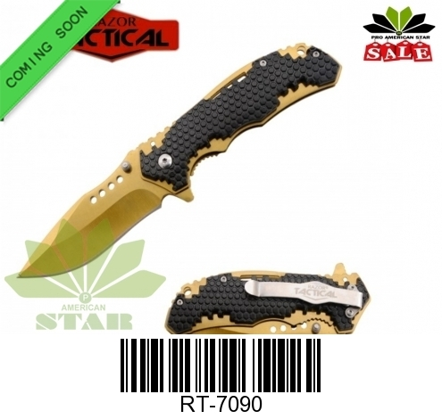 Honey Comb ABS black blade Assisted knife-J-7090