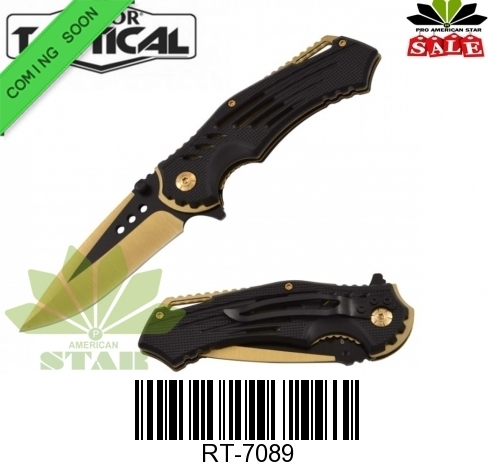 Black,Rainbow  blade,Color ABS folding knife-J-7089