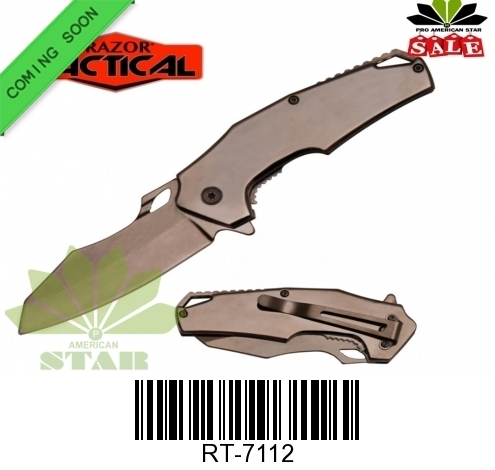 Titanium Spring assisted Knife-J-7112