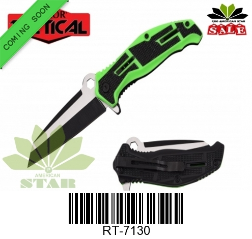 Spring Assist knife, Titanium blade with Pocket clip-J-7130