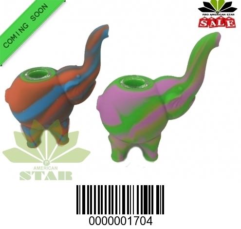 Mini Silicone Elephant Smoking pipe-JK-1704