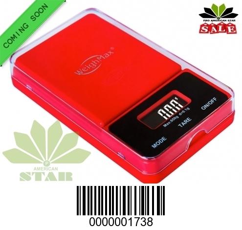 650g Red color Flip off Digital Pocket Scale-JK-1738