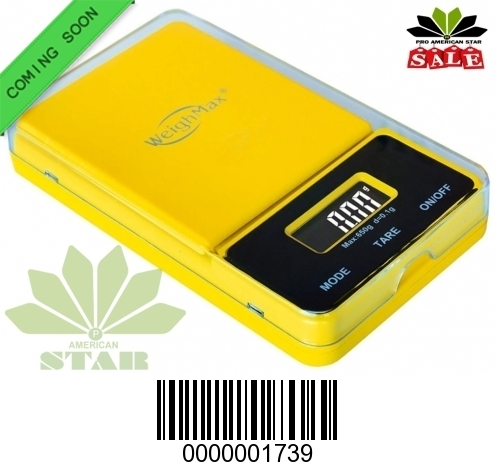 650g yellow color Flip off Digital Pocket Scale-JK-1739