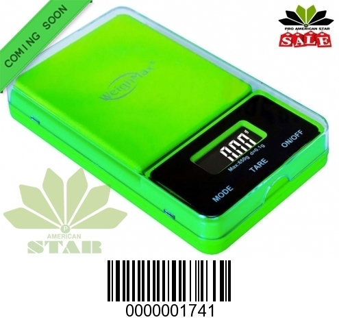 650g Green color Flip off Digital Pocket Scale-JK-1741